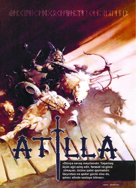 Atilla, birinci yazı