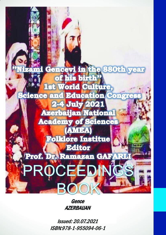 Nizami Gencevi  – PROCEEDINGS BOOK