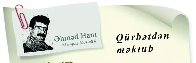 Qurbətdən məktub